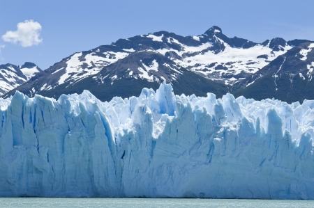 amazing glacier Perito Moreno - water, ice and snow of Argentina photo