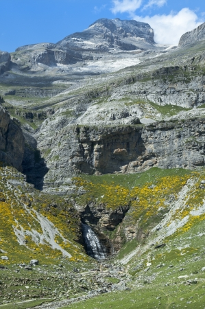 mountain river with waterfall in the Spanish Pyrenees Stock Photo - 17206831