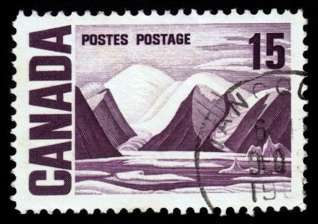 CANADA - CIRCA 1967: stamp printed by Canada, shows Bylot Island by Lawren Harris, circa 1967 Stock Photo - 17202153