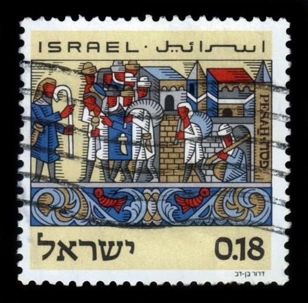 the feast of the passover: Israele - CIRCA 1972 un timbro stampato in Israele mostra festa di Pasqua, l'esodo dall'Egitto, circa, 1972