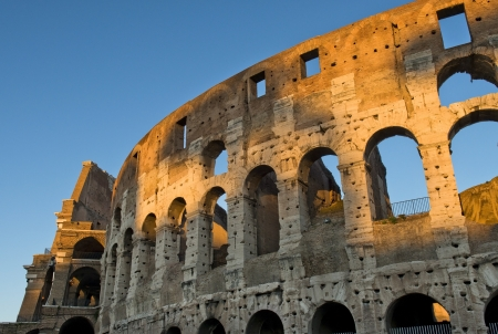 magnificent Colosseum in the first rays of sun, Rome, Italy Stock Photo - 17491262