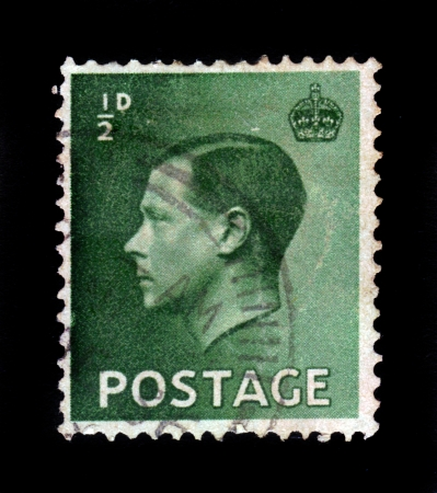 UNITED KINGDOM - CIRCA 1936  A stamp printed in England, shows Edward VIII, King of the United Kingdom, circa 1936 Stock Photo - 17499250