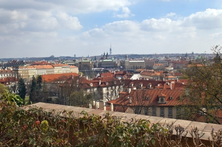 view over the red roofs of Prague from the height of Prague Castle, Czech Republic, Europe Stock Photo - 17757974