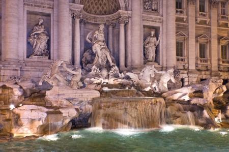 unusually: unusually beautiful Trevi Fountain at night, Rome, Italy Stock Photo