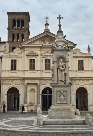 eugene: Basilica of St  Bartholomew on the Tiber Island  Isola Tibertina , Rome, Italy, a series of tour of Rome Stock Photo
