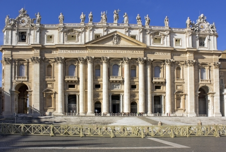 facade of the Basilica of St  Peter, Vatican, Rome, Italy