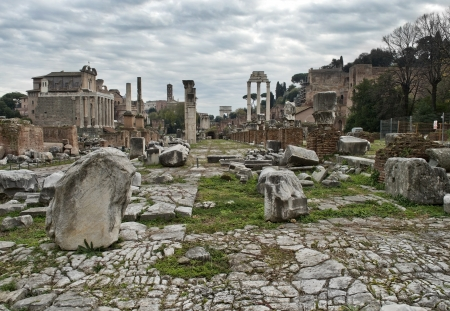 ancient ruins of the Roman Forum  Foro Romano  in Rome, Italy Stock Photo - 18119418