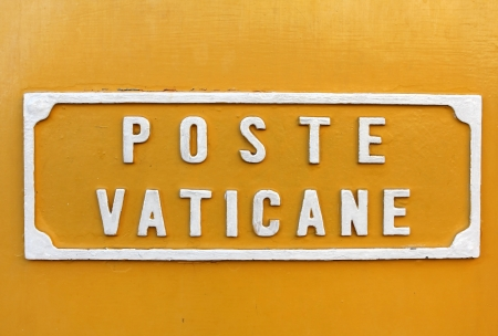 plate with the inscription - mail of Vatican, Rome Stock Photo - 18119422