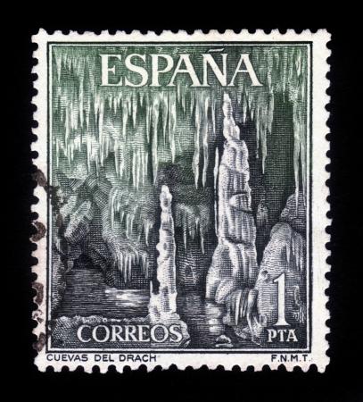SPAIN - CIRCA 1964  a stamp printed in the Spain shows Dragon Caves, Majorca, Spain, circa 1964 Stock Photo - 18149763