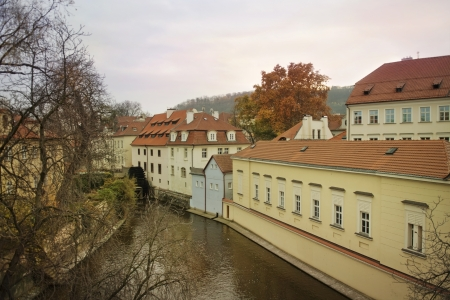 view of the river Certovka in historic part of Prague, Czech Republic Stock Photo - 18149764