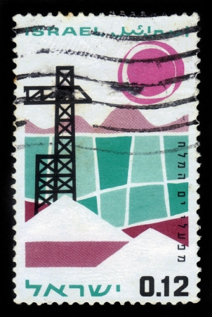 ISRAEL - CIRCA 1965  A stamp printed in Israel, shows Dead Sea Works ,circa 1965 Stock Photo - 18222655