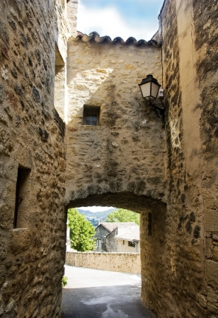 the luberon: old houses in picturesque village, region of Luberon , Provence, France