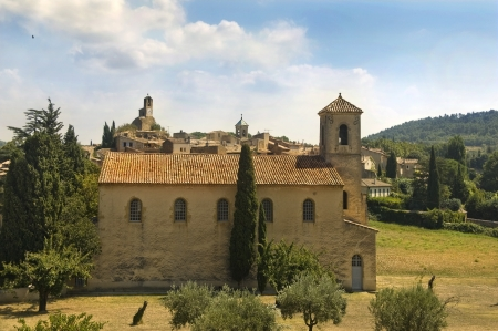 Protestant Temple in Lourmarin,  Provence, Luberon, France Stock Photo - 18411002