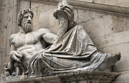 statue of Tiber for Palazzo Senatorio, Rome, Italy Stock Photo - 18411008