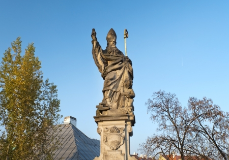 Statue on Charles Bridge, Prague , Czech republic