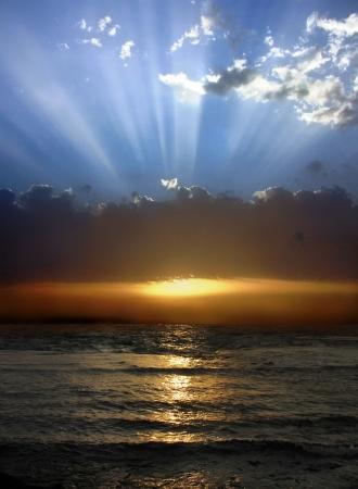 beautiful sunset over the Mediterranean Sea, Israel Stock Photo - 19198404