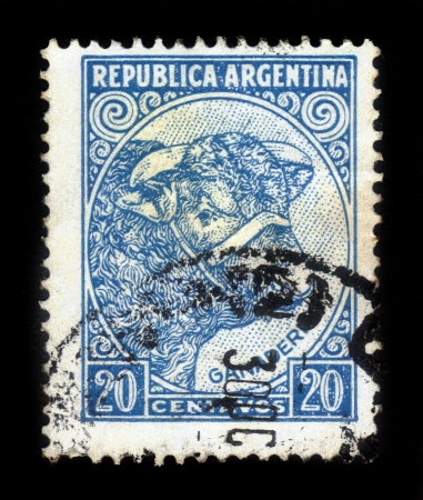 ARGENTINA - CIRCA 1936: a stamp printed in Argentina shows Bull, , with  inscription cattle breeding, from the series