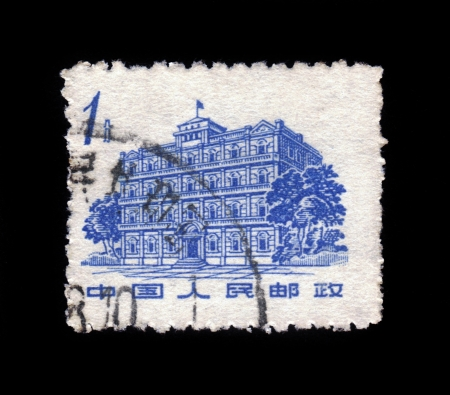 CHINA - CIRCA 1962: A Stamp printed in China shows image of public building, series sacred place of the revolution, circa 1962 Stock Photo - 19391234