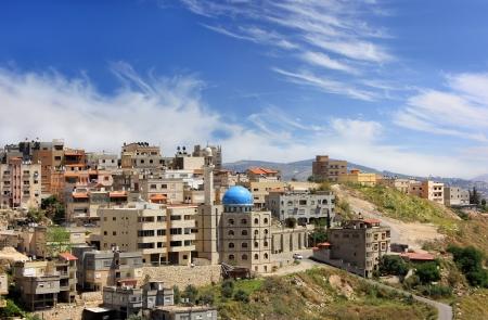 nazareth: mosque with a minaret in the muslim quarter of Nazareth, Galilee, Israel