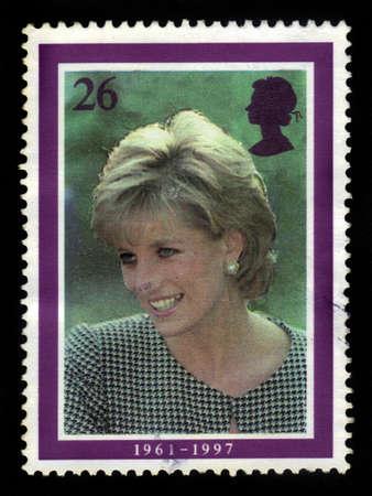 UNITED KINGDOM - CIRCA 1998  A  stamp printed in United Kingdom showing portrait of Diana, Princess of Wales, circa 1998  Editorial