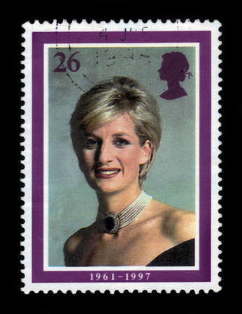 UNITED KINGDOM - CIRCA 1998  A  stamp printed in United Kingdom showing portrait of Diana, Princess of Wales, circa 1998