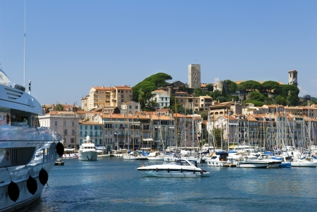 Harbour and marina at Cannes, French Riviera, France Stock Photo