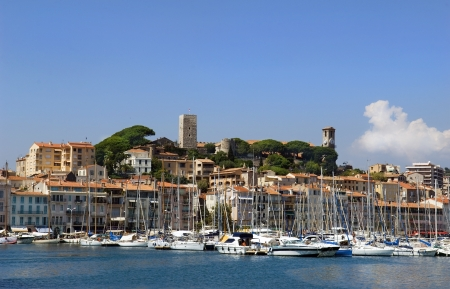 Harbour and marina at Cannes, French Riviera, France Imagens