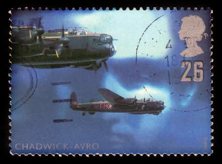 royal air force: UNITED KINGDOM - CIRCA 1997  a stamp printed in Great Britain shows night bomber aircraft by Avro,  royal air force , circa 1997
