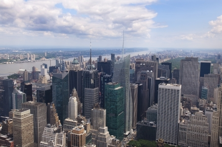 panoramic view of Manhattan, New York, USA photo