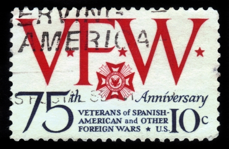 USA - CIRCA 1974  A stamp printed in USA devoted to 75th anniversary  of Veterans of Spanish American and other Foreign Wars, circa 1974