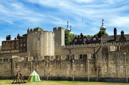 view of the fortress wall, the Tower of London