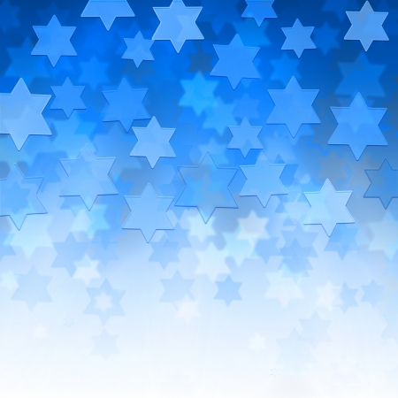 elegant jewish background with Magen David stars and place for text Stock Photo