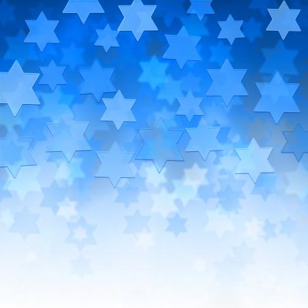 estrella de david: elegante fondo jud�o con Magen David estrellas y lugar para el texto Foto de archivo