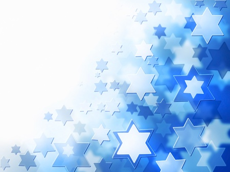 hebrew bible: elegant jewish background with Magen David stars and place for text Stock Photo