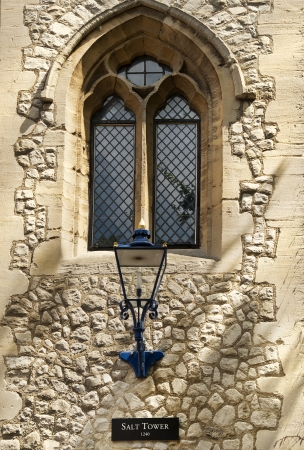 window and lantern over the entrance to the salt tower - part of the Tower of London, England  photo