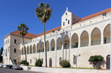 salesian: Christian School and Salesian Church , one of the largest and most beautiful churches in Nazareth, Israel Editorial