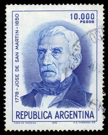 jose de san martin: ARGENTINA - CIRCA 1978  a stamp printed in the Argentina shows Jose de San Martin, General, circa 1978