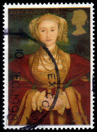 UNITED KINGDOM - CIRCA 1997  A stamp printed in Great Britain shows Anne of Cleves, wife of Henry VIII, series, circa 1997