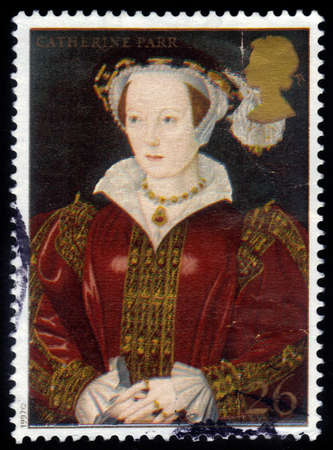 viii: UNITED KINGDOM - CIRCA 1997  A stamp printed in Great Britain shows Catherine Parr, wife of Henry VIII, circa 1997