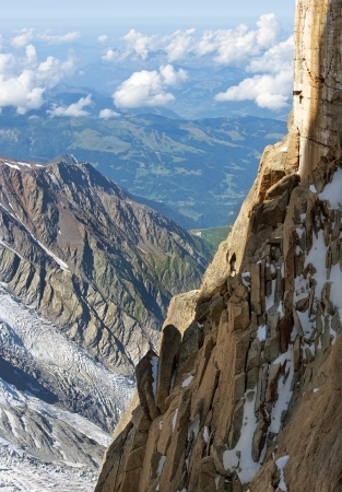 steep cliffs: magnificent view of the steep cliffs of Swiss Alps Stock Photo