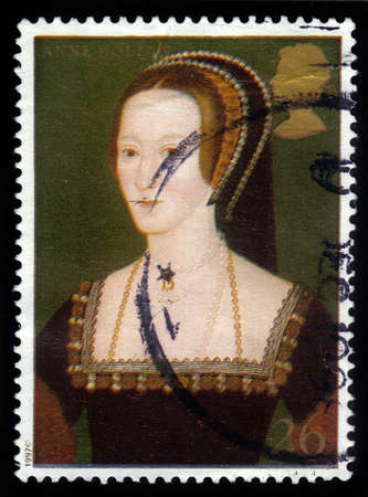viii: UNITED KINGDOM - CIRCA 1997  A stamp printed in Great Britain shows Anne Boleyn, wife of Henry VIII, series, circa 1997