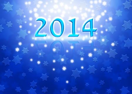 2014 New Year background with Magen David stars photo