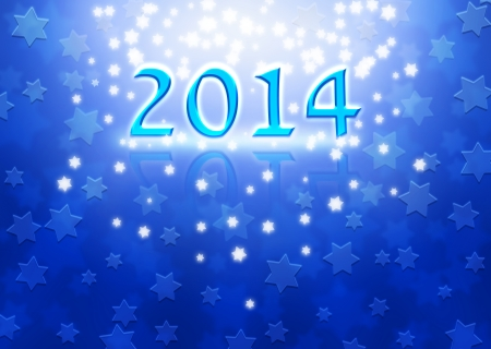 magen: 2014 New Year background with Magen David stars