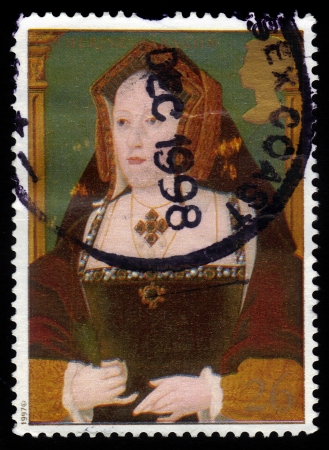 viii: UNITED KINGDOM - CIRCA 1997  A stamp printed in Great Britain shows Catherine of Aragon, wife of king Henry VIII, circa 1997