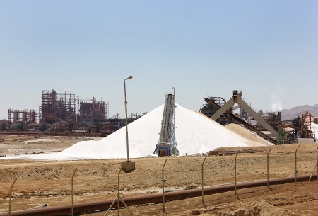 plant for the production of mineral fertilizers and magnesium on the Dead Sea in Israel photo