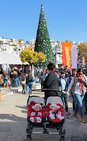 nazareth: Christmas celebration at the street