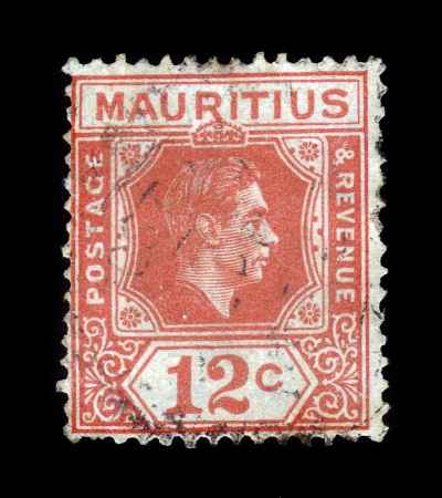 vi: MAURITIUS-CIRCA 1942 A stamp printed in MAURITIUS shows image of the King George VI , circa 1942