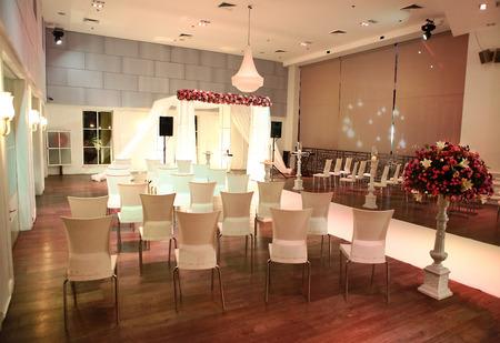 chuppah: jewish traditional wedding ceremony  wedding canopy  chuppah or huppah  in jewish tradition Editorial
