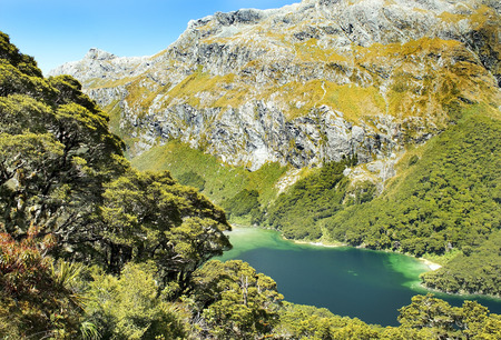 Routeburn track, fabulous scenery in New Zealand photo