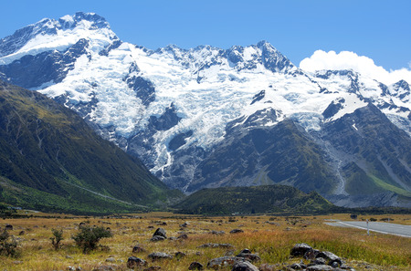 picturesque landscape with wild nature in New Zealand photo